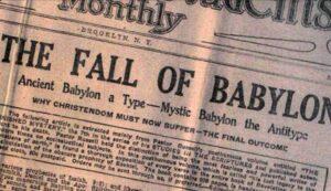 Wachttoren voorpagina Babylon gevallen