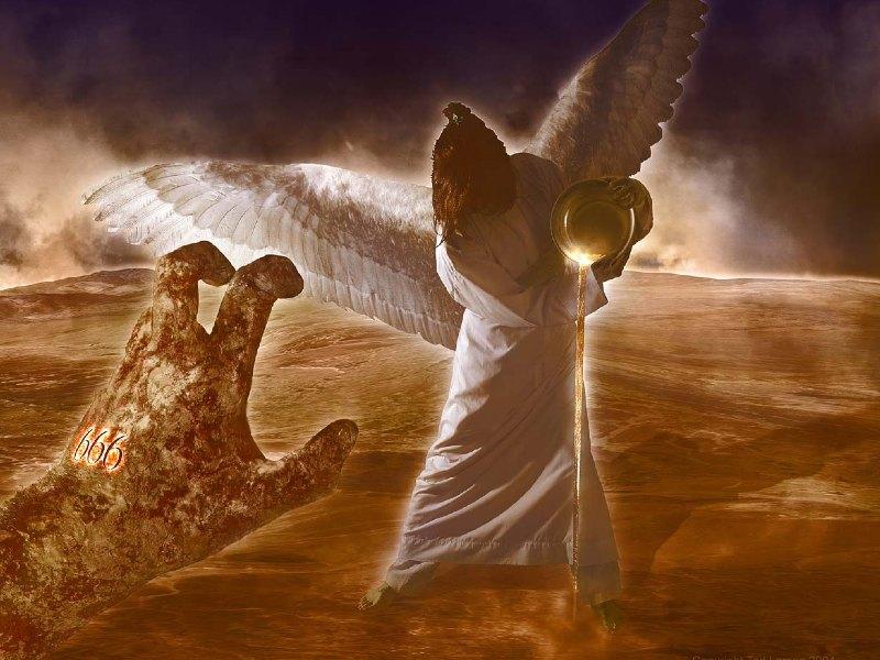 Engel met schaal