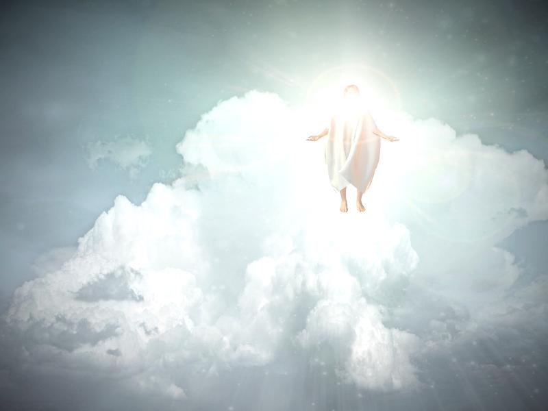 Christus op een wolk