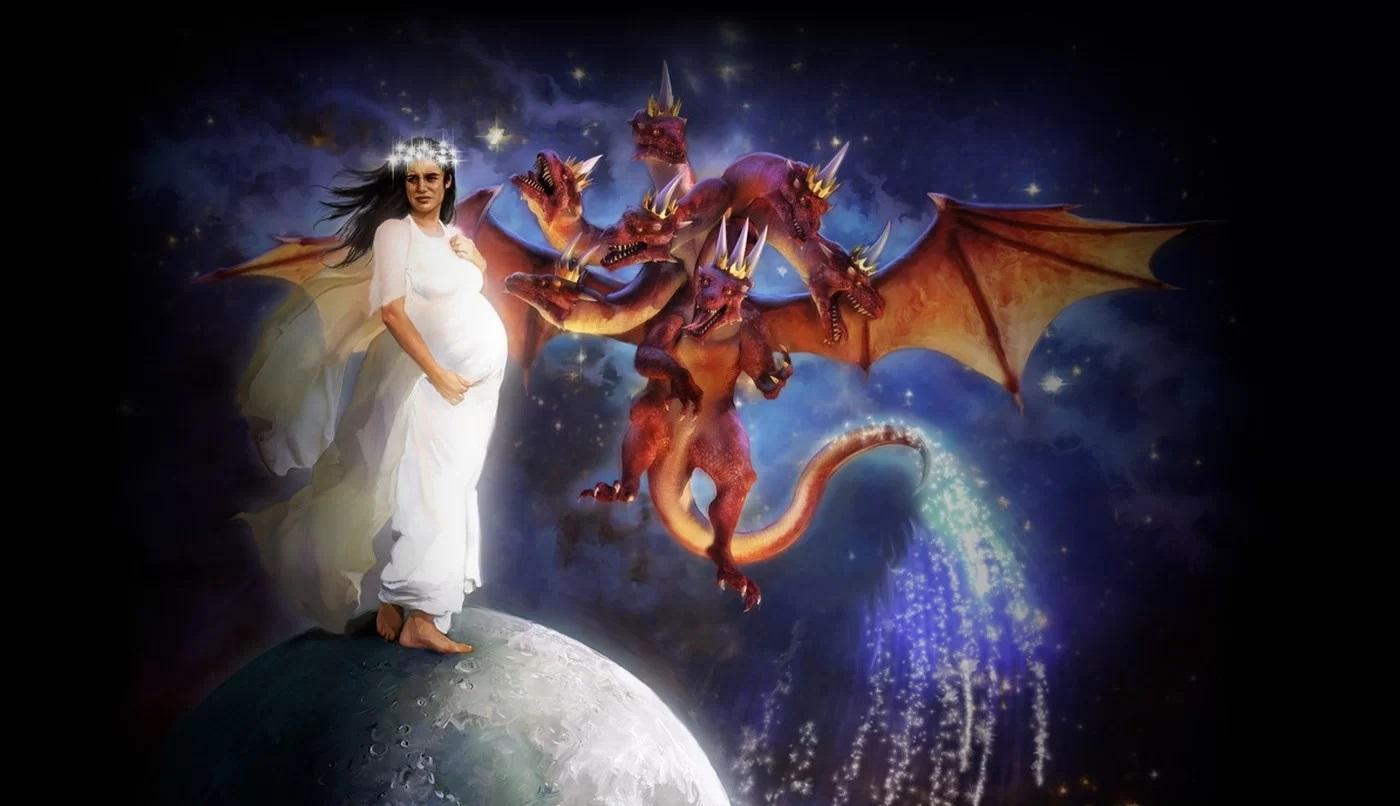 vrouw en draak