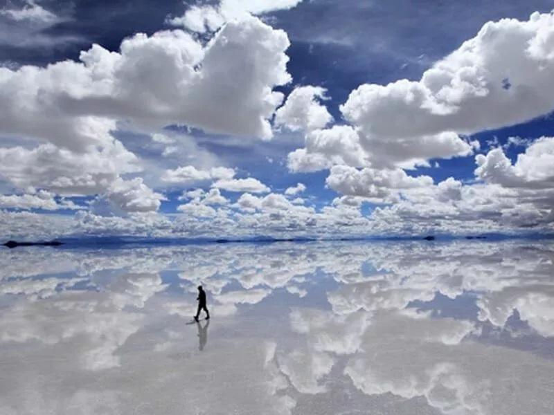 wandeling in de wolken