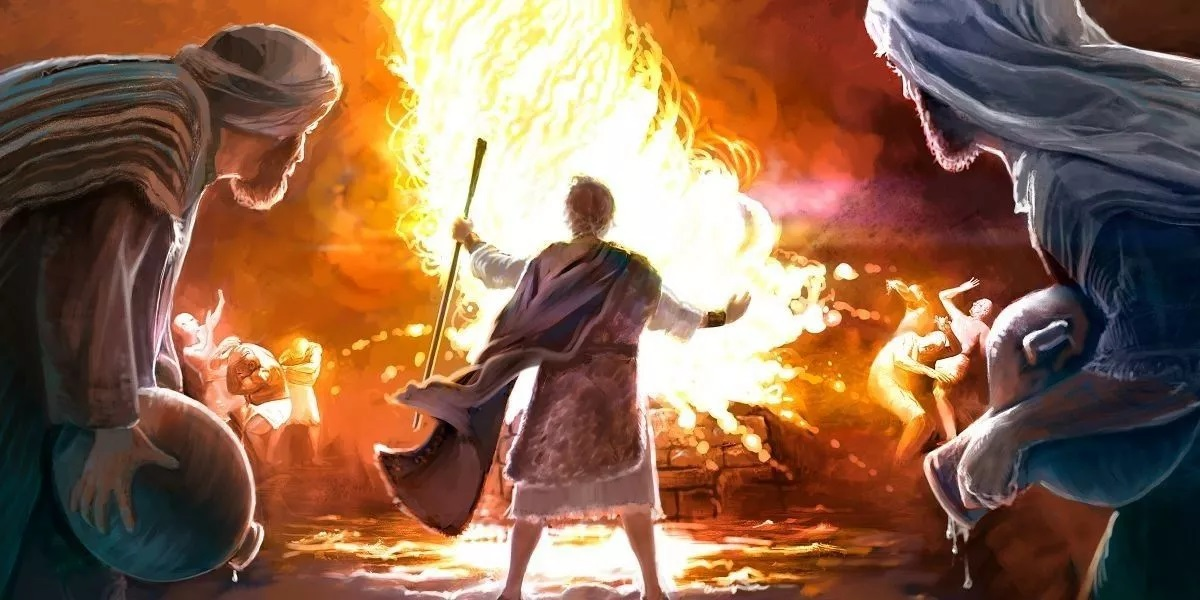 Elia en de priesters van Baal